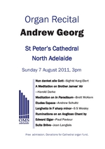 St Peter's Cathedral Organ Recital