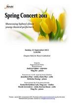 Birubi Concert: Spring Concert 2011