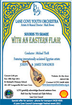 With an Eastern Flair : Lane Cove Youth Orchestra with guest artists Joseph and James Tawadros