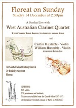 A Sunday Live with the West Australian Clarinet Quartet