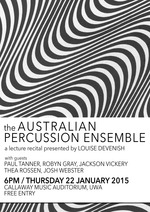 Australian Percussion Ensemble: a lecture-recital
