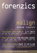Forenzics 'Malign' Album Launch