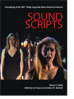 Sound scripts  : proceedings of the 2007 Totally Huge New Music Festival Conference, vol. 2 (2009)  / edited by Cat Hope and Jonathan Marshalldefault/product?slug=sound-scripts-proceedings-of-the-2007-totally-huge-new-music-festival-conference-vol-2-2009