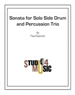 Sonata for solo side drum and percussion trio