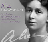 Gillian Whitehead's monodrama <em>Alice</em> (CD cover).