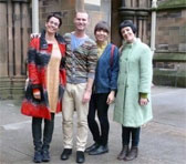 Ensemble Offspring's tourists: Claire Edwardes, Jason Noble, Bree van Reyk and Lamorna Nightingale