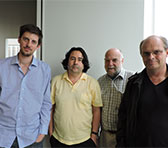 Daniel Portelli, Andrián Pertout, Howard Dillon and Bruce Crossman at Shibuya Cultural Center Owada Sakura Hall