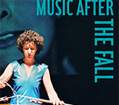 Detail of the <em>Music after the Fall</em> cover, with the former ELISION cellist Rosanne Hunt performing a John Rodgers work.