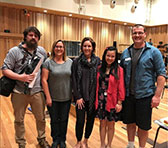 Six composers at the QSO's Composer Reading Day