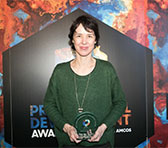 Andrea Keller at the PDA presentation ceremony in Sydney on Tuesday