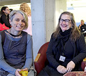 Keynote speaker Cat Hope (right) in Canberra with fellow sound artist Vanessa Tomlinson