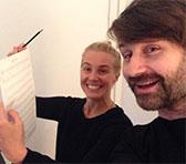 Julia Kadel and Julian Day earlier this month in Berlin