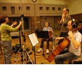 Damian Barbeler in his recording session for <em>Exquisite Blood</em>- a work completed in 2007 during his Emerging Composer Fellowship