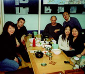 Asian-Pacific composers in Tongyeong (from left to right): Yuan Peiying (Singapore), Scott McIntyre (Australia), Bruce Crossman (Australia), Ji Yun Lee (Australia), Hung Ming-Kin Christopher (Hong Kong), Emily Koh (Singapore), Andrian Pertout (Australia)