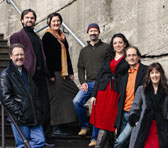 The Song Company, from the left: Clive, Richard, Anna, Mark, Lauren, Roland and Ruth