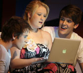 Kristian Roche (Ryan), Kiandra Howart (Josie) and Jordan Pollard (Ben) in <em>Dirty Apple</em>