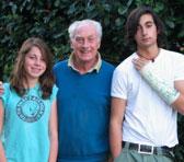 Peter Tahourdin with his grandchildren Imogen and Max