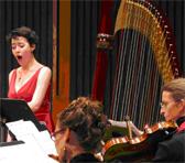 Soprano Jane Sheldon with Firebird Ensemble flautist Jessi Rosinski and violist Kate Vincent, Stanford University, October 8, 2009