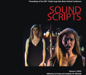 Cover of Sound Scripts, vol. 2 (Australian Music Centre, 2009)