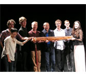 Masterclass participants with James Ledger, Tan Dun and Xiaoxia Zhao and her guqin