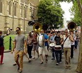Jazz flashmob, organised by the Melbourne Improvising Collective