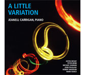 A new CD from the AMC: <em>A Little Variation</em> by pianist Jeanell Carrigan