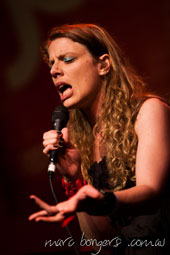 Kristin Berardi singing in the finals of the 2012 National Jazz Awards.