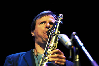 Chris Potter playing at a MIJF concert