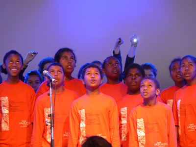 participants of the Gondwana National Indigenous Children's choir in performance