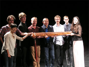 Masterclass participants with James Ledger, Xiaoxia Zhao and her guqin
