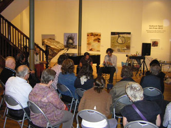 Laura Altman and Joel Stern performing at the Broken Hill Art Gallery