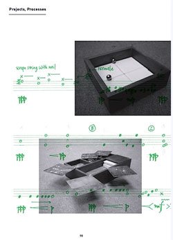 Sonorities of Site - example of page layout