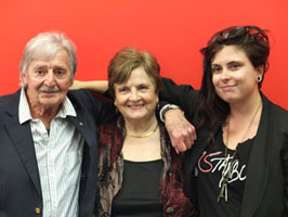 Peter Sculthorpe and Gwen Bennett with her grandddaughter
