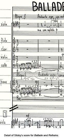 details of sitsky's score ballade and refrains
