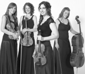 Sartory String Quartet (left – right): Pascale Whiting, Christa Jardine, Emily Thompson and Sophie Walker