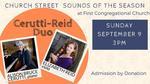 Church Street Sounds of the Season: Cerutti-Reid Duo
