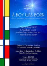 A BOY WAS BORN : Allegri Ensemble