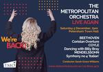 The Metropolitan Orchestra back LIVE In Concert : (Live and Streaming)