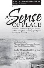 A Sense of Place - Canticum Chamber Choir