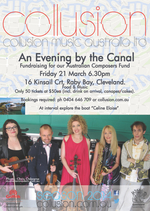 An Evening by the Canal : fundraiser for Collusion's Australian Composers Fund
