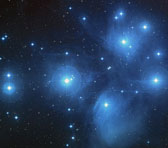 The Pleiades - Alcyone just left of centre