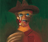 Sidney Nolan's portrait of Ern Malley as featured in the cover of the new collection.