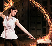 Percussionist Kaylie Dunstan, one of the performers of Kammerklang Ablaze