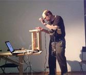 Warren Burt performing in Melbourne, December 2013