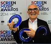 Cezary Skubiszewski with his 3 Screen Music Awards for 2014