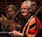 Anne Boyd received her Award at the Sydney Conservatorium last Friday