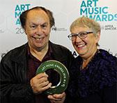 Larry Sitsky with Robyn Holmes