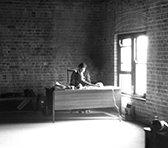 James Murdoch at his desk in 1975.