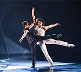 Migule Altunaga and Dane Hurst in Rambert's 'The 3 Dancers'