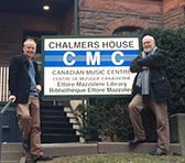 James Ledger and Brett Dean paid a visit to the Canadian Music Centre during their stay in Toronto